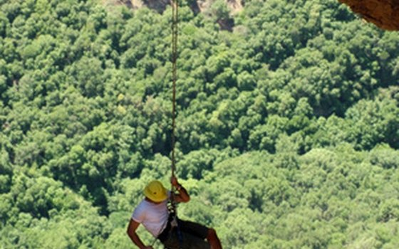 A pair of rock climbers started the first zip line in Costa Rica.