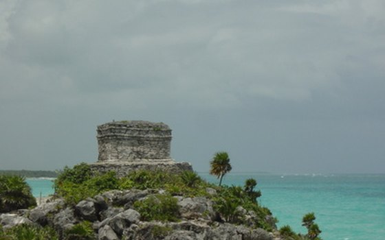 Tulum sits on a cliff overlooking the Caribbean.