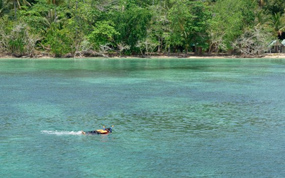 Thailand's clear blue waters offer prefect snorkeling conditions.