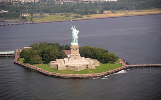 The full island that houses Lady Liberty