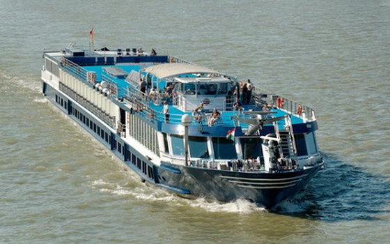 River cruise ships have a large sundeck with great views.
