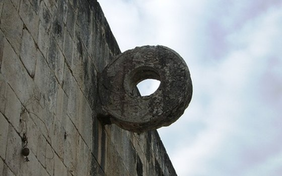 The ring at the ball court of Chichen Itza