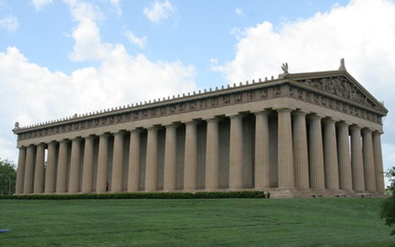 A reconstruction of how the Parthenon would have looked in the fifth century BC