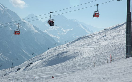 You'll enjoy stunning views of the Alps from the ski lifts.