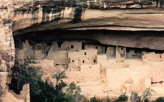 Some of Mesa Verde's largest natural alcoves shelter Puebloan cliff dwellings.