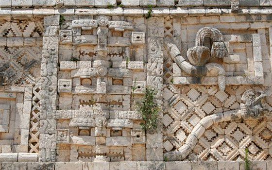 Decorative stonework at Uxmal