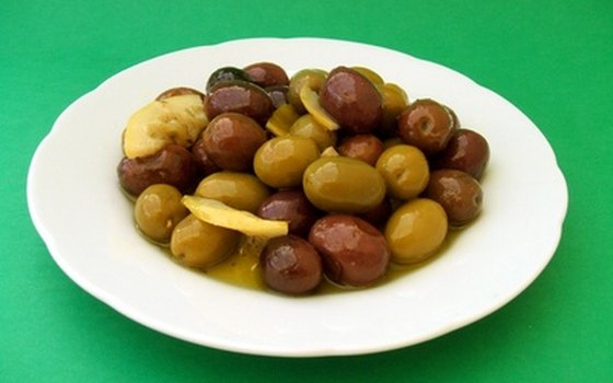 Olives are one of hundreds of dishes offered as snacks in Granada's tapas bars