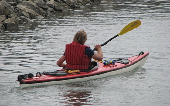 Kayaking is popular on Idaho lakes.