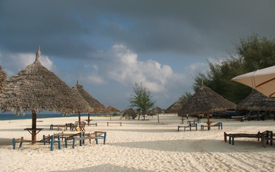 The white-sand beaches of Zanzibar and Pemba attract many visitors.