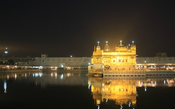 Many pilgrims visit the Golden Temple in Amritsar.