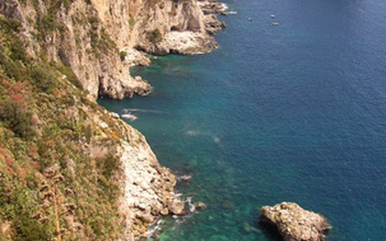 The Isle of Capri is a worldwide attraction in the Bay of Naples..