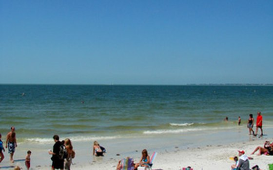 The Gulf Coast has miles of white sand beaches.