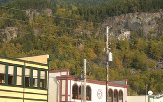 Dowtown Skagway, a historic mining town