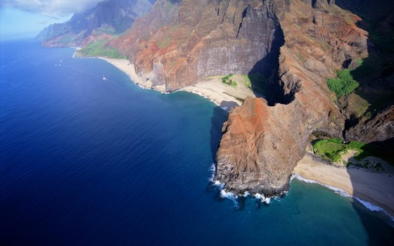 The Na Pali coastline.