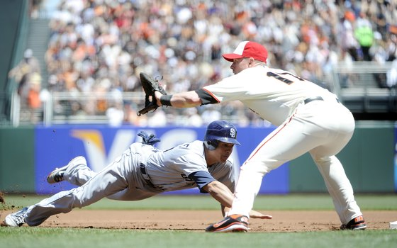 Perched on the oceanfront, AT&T Park hosts thrilling baseball games in San Francisco.