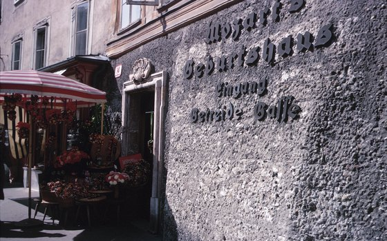 Mozart's birthplace typically is among the stops on a tour of Salzburg.