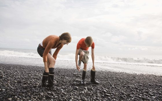 Black sand beaches on Iceland are for admiring, not for swimming.