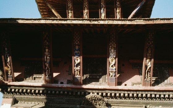 Typical temple in Nepal.