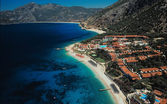 For a beach vacation, book accommodations in resort towns like Oludeniz.