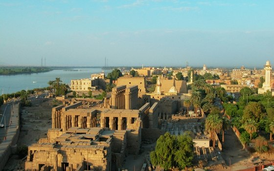 In Egypt, the city of Luxor is perched on the banks of the Nile River.