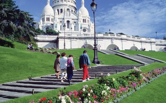 Sacre-Coeur lies in the Montmartre district of Paris.