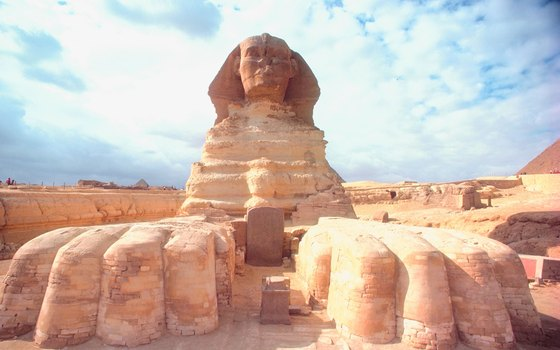 The Great Sphinx lounges just outside Cairo.