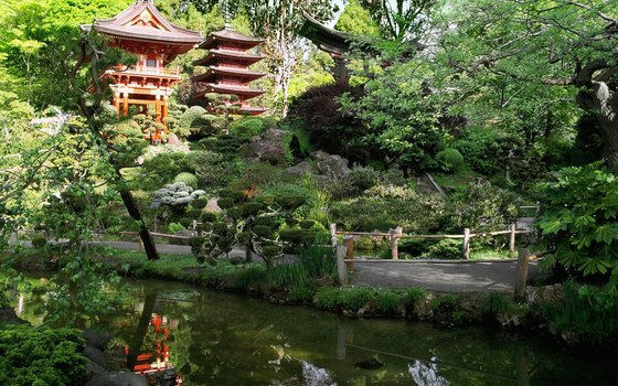 This Japanese Tea Garden is in Golden Gate Park.