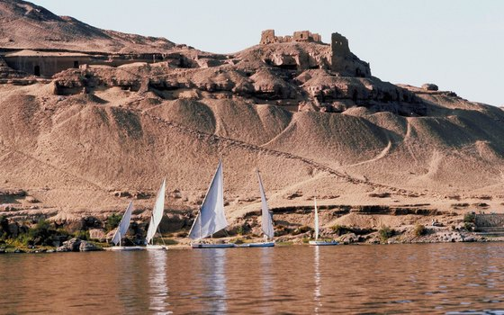 Hundreds of riverboats of all price-points cruise the Nile River in Egypt.
