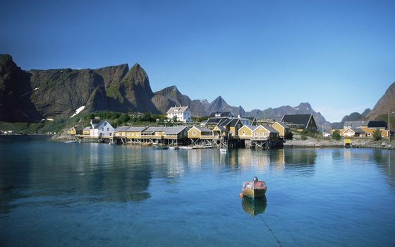 Many of Norway's northernmost fishing communities, such as Sakrisoy on Lofoten, can only be reached by boat.