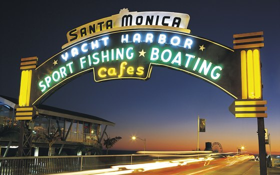 More than 100 years old, the historic Santa Monica Pier offers opportunities to fish, as well as amusement rides, concerts and other events.
