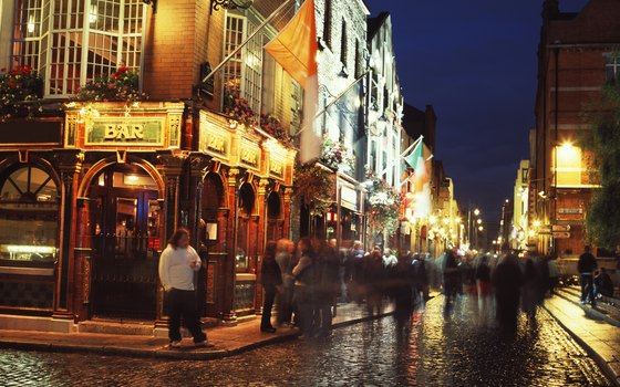 Dublin residents and visitors mix and mingle at The Temple Bar as they have since 1840.