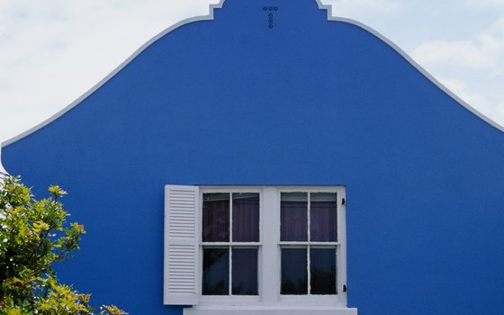 Blue house in parish of St. George