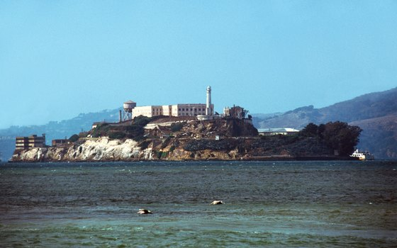 Alcatraz Island is reached by ferry from Pier 33.
