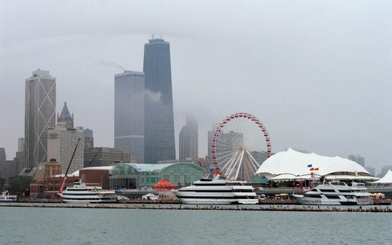 Locals and visitors alike seek entertainment at Navy Pier.