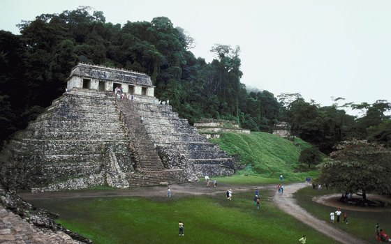 Palenque's Temple of the Inscriptions houses the tomb of the great Mayan leader, Pakal.