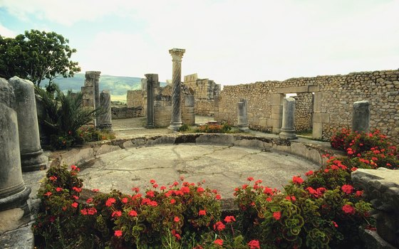 The ruins at Volubilis date back two thousand years.