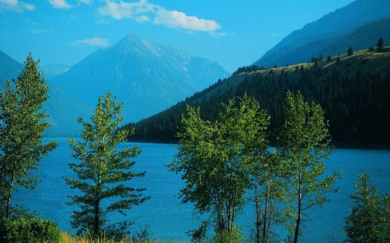 Wallowa Lake at the northern foot of the Wallowa Mountains reflects its glacial heritage.