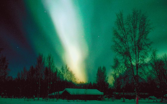 Green is the most common color of the aurora borealis, but purple and red have also appeared.