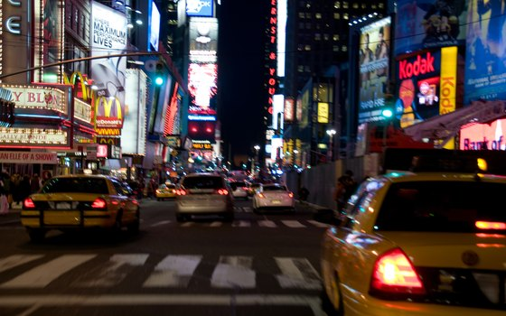 Times Square, considered the center of New York's social hub, is at the junction of 42nd Street and Broadway.