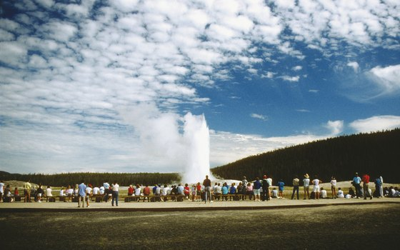 Arrive early for a front row seat when Old Faithful is predicted to erupt.
