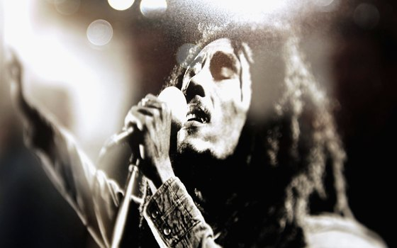 Known for his reggae music, Bob Marley is Jamaica's most famous artist.