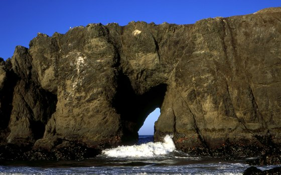 The rugged coast near Gold Beach presents the drama of nature.