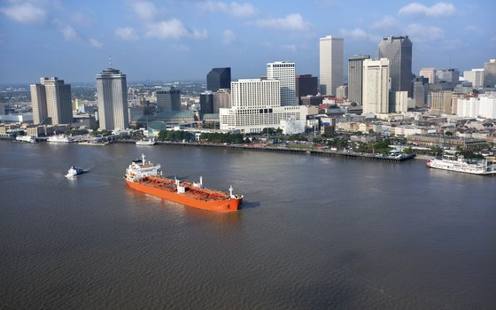 Take in the sights of the Mississippi River and the New Orleans skyline.