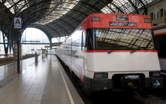 Book European train tickets at the station or online.