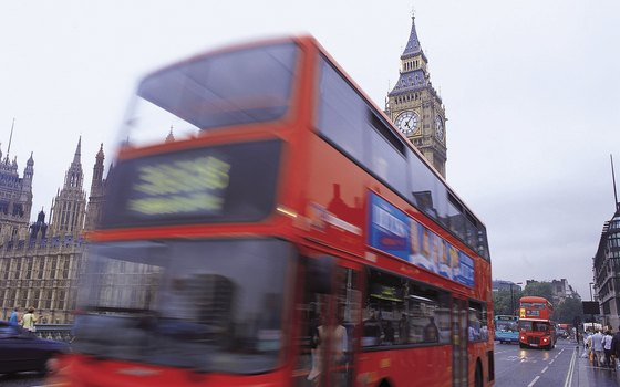 Get your own bus tour of the city on London's double-decker busses.