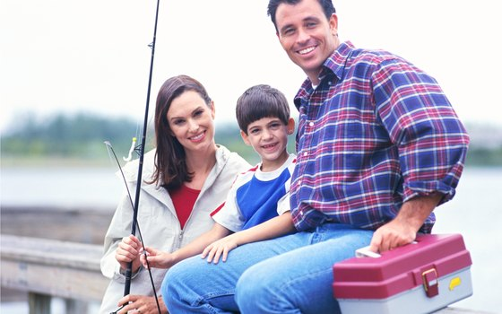 Fishing can be a family sport.