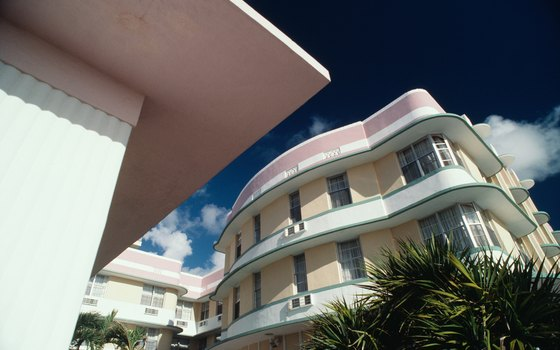 The pastel charms of South Beach's art deco buildings