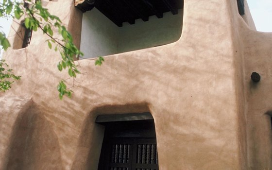 Typical adobe architecture in Santa Fe.