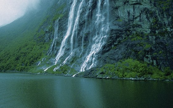 The Seven Sisters Falls on Geirangerfjord is one of the most spectacular waterfalls in Norway.