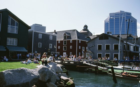 The Halifax waterfront attracts visitors to its museums and restaurants.